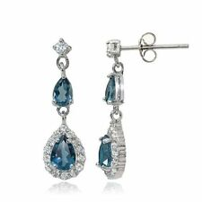 Blue Irradiation Drop/Dangle Fine Earrings