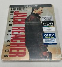 Jack Reacher: Never Go Back 4K Ultra HD HDR Blu-Ray Collectible Steelbook NEW