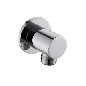 "Bathroom Round Shower Hose Connector 1/2"" NPT Wall Union Handshower Supply Elbow"