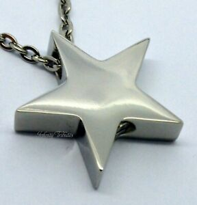 Star Cremation Urn Ashes Necklace Keepsake Pendant Charm for Cremains