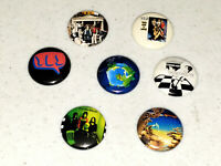 7 Buttons 1 Inch Pin Yes Early Albums Time Word Fragile Yesterdays US UK - LOT C