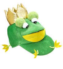 FROG PRINCE HAT PLUSH GREEN FANCY DRESS ACCESSORY NOVELTY