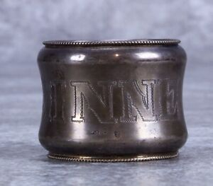 830 Sterling Silver Napkin Ring Monogram Minnie and Carmen R.