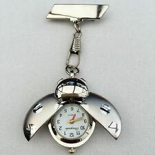 Tono Plata Ladybird Enfermeras Esteticista Fob Watch Broche Pin