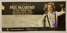 Paul McCartney UP AND COMING TOUR CARDIFF used Ticket 2010 #