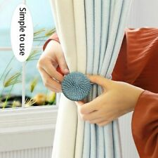 Home Decorative Curtain Buckle Holder Clip Rope Strap Accessory Magnetic Tieback