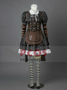 Alice: Madness Returns Alice Steamdress Cosplay Costume & Necklace Gift