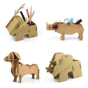 3D Jigsaw Puzzle Bundle - Educational Cardboard Pen Stationary Holders x 4