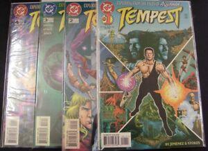 TEMPEST 1-4 DC COMIC SET COMPLETE AQUAMAN PHIL JIMENEZ STOKES AIKEN 1996 VF/NM