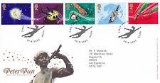 20 auust 2002 Peter Pan Royal Mail primer día cubierta Gancho Shs