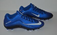 Nike Alpha Pro 2 TD Molded Football Cleats - Men's Size 11.5 - Blue Black White