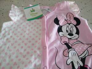 DISNEY BABY ~Minnie Mouse, Size 2, Romper, Low fire danger, New, Licensed.