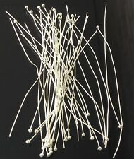 50PCS Silver Plated Ball Pins 3 inches long 22Gauge- Earring Sulpplies