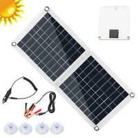 40W Faltbar Dual-USB-Solarpanel Solarmodul Outdoor Camping Batterie Ladegerät DE