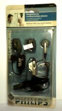 2005 Cordless/Cell Phone Earbud w/Adapters ~ NEW Old Stock From Philips ~