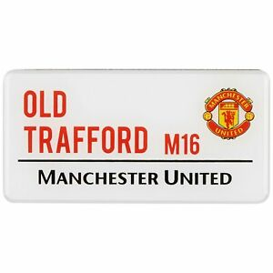 Manchester United Football Street Sign Magnet Fan Gift Unisex