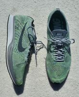 2017 Nike Flyknit Racer Ghost Green Grey Running Size 10.5 (526628-103) No Box