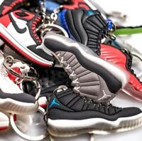Lot of 50 Nike Air Jordan, Yeezy, Lebron, Durant Shoe Keychains - Random Picks!