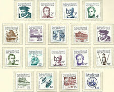 1984 - 1986 Definitives Set of 22 all stamps Complete  MUH Value 2 scans