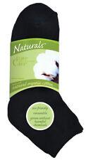 3 pureCare Naturals Black Ankle High Organic Cotton Socks Size 4-10 NEW #22536