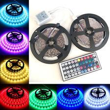 32FT/10M 5050 RGB Flexible Strip 300 SMD LED Light + 44 Key IR Remote Controller