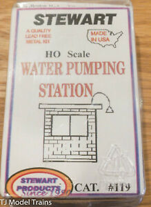 "Stewart HO Scale #119 Water Pumping Station - 1-1/4 x 1-3/4 x 2"" 3.1 x 4.3 x 5cm"