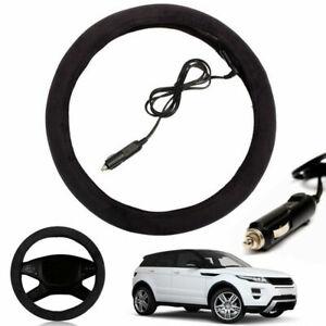 Heating Steering Wheel Cover Auto Hands Warmer Steer Sleeve Best 12V 37-39cm
