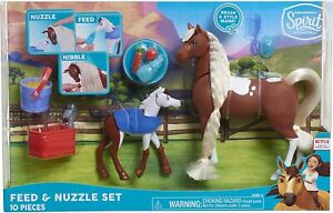 DreamWorks Spirit Riding Free 10-Piece 2-Horse Feed & Nuzzle Set Just Play Toys