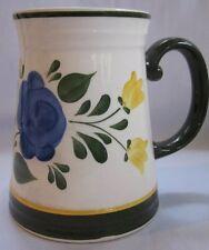 Villeroy & Boch Tankard Mug Coffee Bauernblume Pattern Red Blue Roses Rare