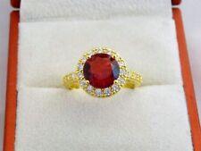 Handmade Ruby Round Costume Rings