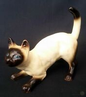Vintage Crouching Siamese Cat Coopercraft 13cm Long | FREE Delivery UK*