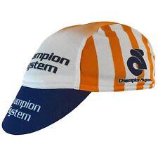 Champion System Tech Cotton Cycling Euro Cap - One Size White/Bue/Orange