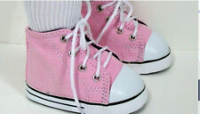 PINK Canvas High-Tops Tennis Sneakers Doll Shoes 2.25 inches long