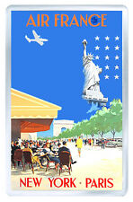 NEW YORK PARIS 1951 VINTAGE REPRO FRIDGE MAGNET IMAN NEVERA