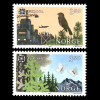 Norway 1986 - EUROPA Stamps - Nature Conservation - Sc 982/3 MNH