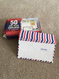 5 Vintage Airmail Air Mail Envelopes Scrapbook Supplies (new)