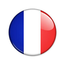 Badge Drapeau FRANCE French flag rugby foot basket sports Les Bleus Button Ø25mm