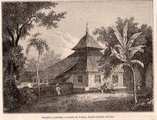 IMAGE 1872 PRINT INDONESIE INDONESIA AMBOINE AMBON MOSQUEE MOSQUE
