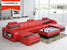 Corner Leather Textile Fabric Couch Sofa Set Interior Design Pads New Ciii