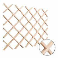Hardware Resources WR36MP Wine Lattice Rack, Hard Maple