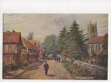 Chiddingstone Kent by FW Burton Vintage Salmon Art Postcard 682b