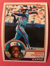 1983 Topps #495 Warren Cromartie Expos Mint razor sharp