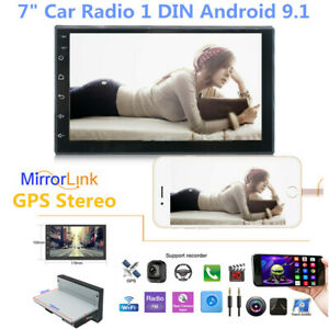 """7"""" Car Radio 1DIN Android 9.1 GPS Stereo Navi MP5 Player WiFi Quad Core 1024*600"""