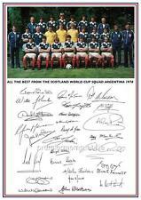 Scotland 1978 World Cup full squad signed reprint Kenny Dalglish Joe Jordan