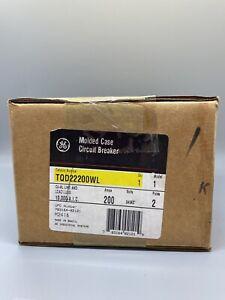 GE TQD22200WL 200 AMP 2 POLE MOLDED CASE CIRCUIT BREAKER