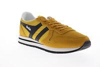Gola Daytona CMA592 Mens Yellow Mesh Lace Up Low Top Sneakers Shoes 10