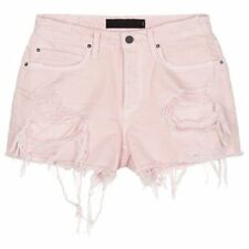 Alexander Wang Distressed Cut-Off Shorts, Light Pink, 27