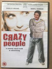 Dudley Moore CRAZY PEOPLE ~ 1990 verdad en publicidad Culto Comedia RARO GB DVD
