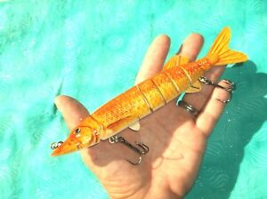 "NEW UNFISHED 8"" 2.5oz  SALTWATER MUSKY GAR STRIPER SWIMBAIT FISHING LURE BAIT"