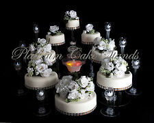 8 TIER CASCADE WEDDING CAKE STAND W/FOUNTAIN & 8 VOTIVE SET (STYLE R803)